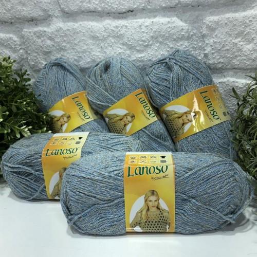 OUTLETYARN - (5 X 50 GRAM) LANOSO LİNEN EXCLUSIVE 75505