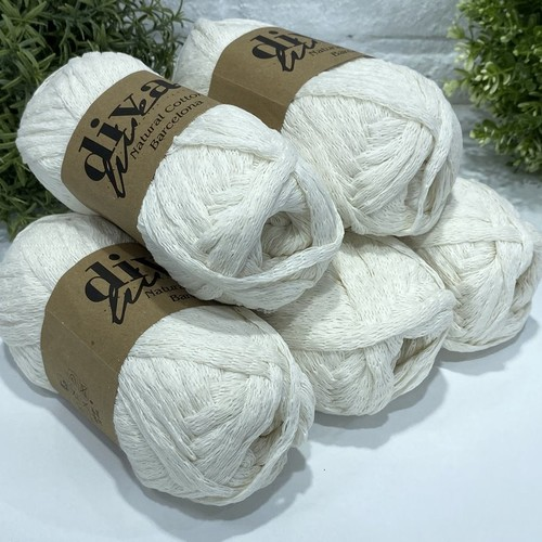 OUTLETYARN - 5X100 GRAM DİVA NATURAL COTTON BARCELONA 288