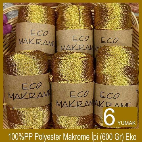 OUTLETYARN - (6 X 100) GR DİVA ECO MAKROME SERİ SONU İPLİK 624