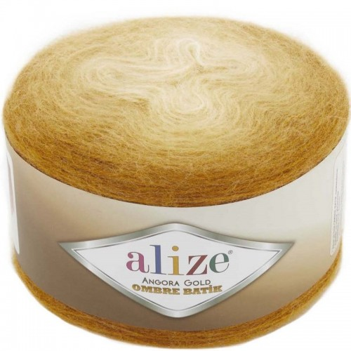 ALİZE - ALİZE ANGORA GOLD OMBRE BATİK 7358