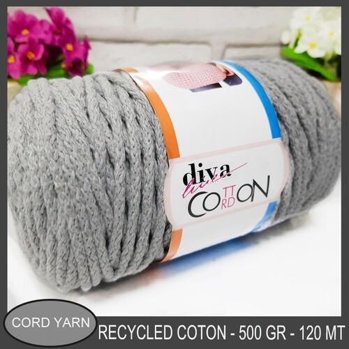 DİVA LİNE - DİVA COTTON CORDON KORDON İPİ 2107 AÇIK GRİ