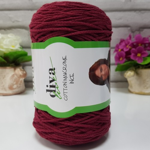 DİVA LİNE - COTTON MAKROME İNCE 999 BORDO
