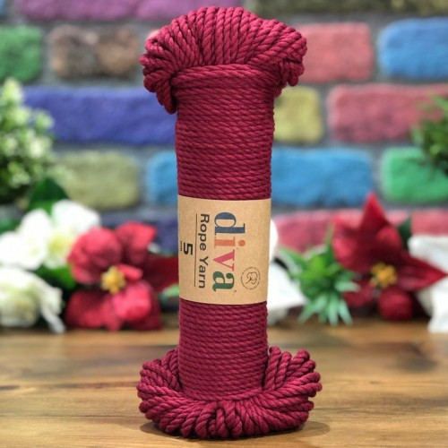 DİVA LİNE - DİVA ROPE YARN (5 MM) 999 BORDO