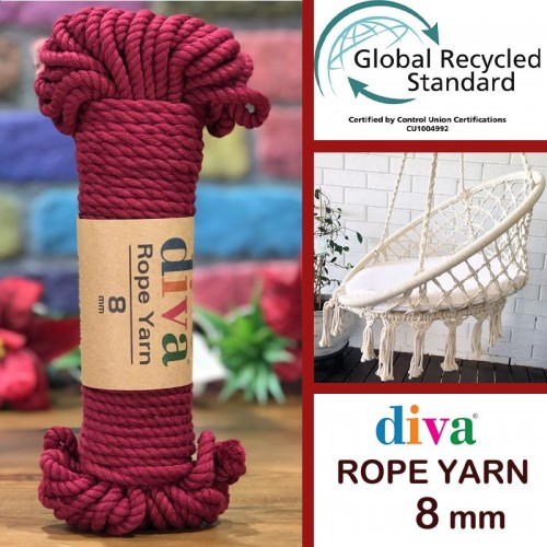 DİVA LİNE - DİVA ROPE YARN (8 MM) 999 BORDO