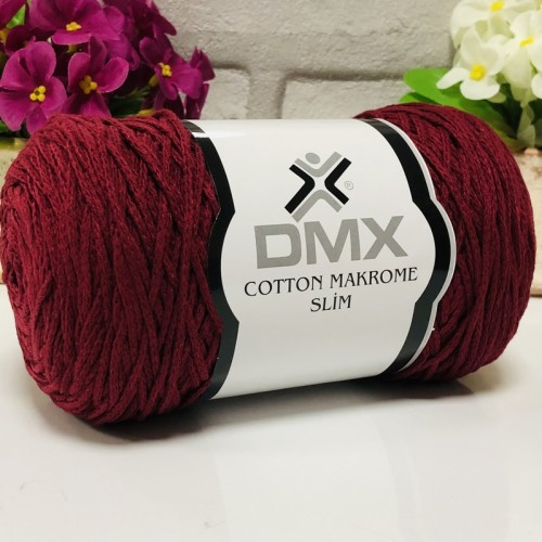 DMX - DMX COTTON MAKROME İNCE 999 BORDO