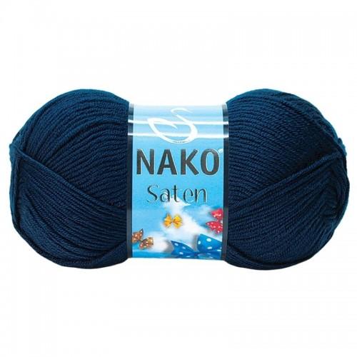 NAKO - NAKO SATEN 04253 NAVY BLUE