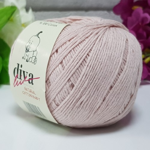 DİVA LİNE - DİVA NATURAL COTTON BABY BEBE İPİ 1003 SOFT PUDRA