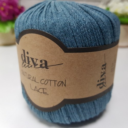 DİVA LİNE - DİVA NATURAL COTTON LACE LASE İPİ 10328 PETROL