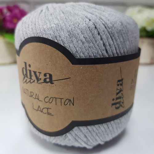 DİVA NATURAL COTTON LACE LASE İPİ 2107 AÇIK GRİ
