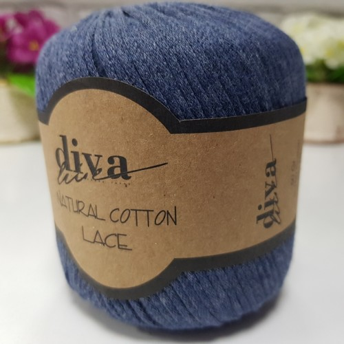 DİVA LİNE - DİVA NATURAL COTTON LACE LASE İPİ 2113 JEANS