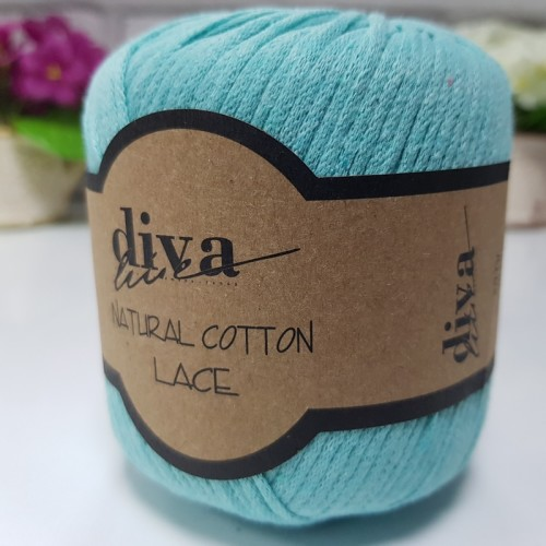 DİVA LİNE - DİVA NATURAL COTTON LACE LASE İPİ 2119 MİNT