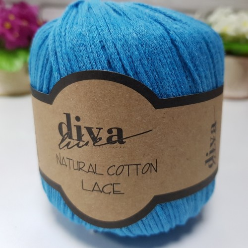 DİVA LİNE - DİVA NATURAL COTTON LACE LASE İPİ 2122 OKYANUS