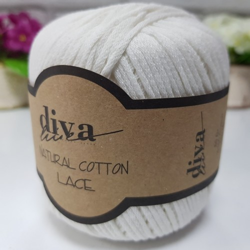 DİVA LİNE - DİVA NATURAL COTTON LACE LASE İPİ 288 KREM