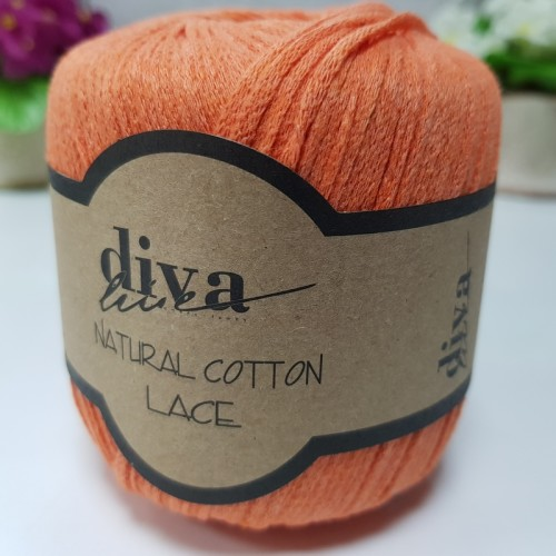 DİVA LİNE - DİVA NATURAL COTTON LACE LASE İPİ 979 PORTAKAL