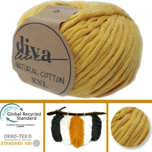 DİVA LİNE - DİVA NATURAL COTTON XXL 1974 HARDAL