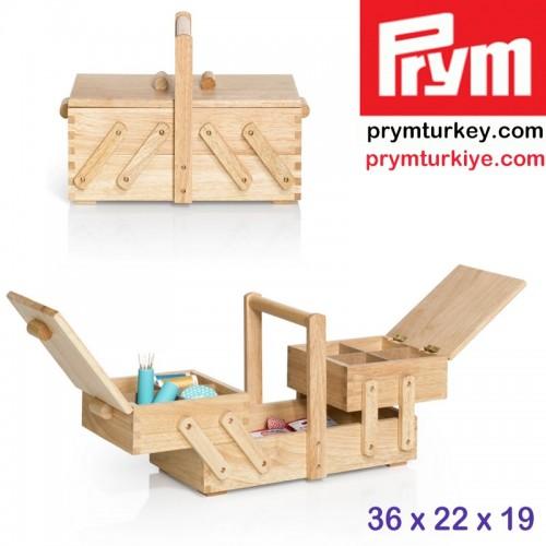 PRYM - PRYM 612545 AHŞAP DİKİŞ KUTUSU