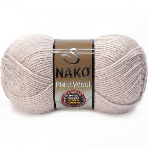 NAKO - NAKO PURE WOOL 3079 PEMBELİ GRİ