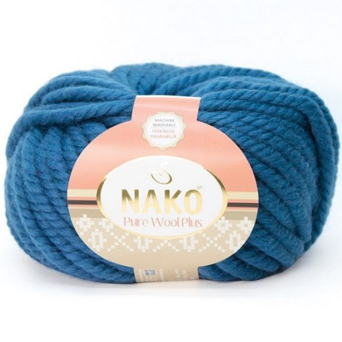 NAKO - PURE WOOL PLUS 10093 PASLI MAVİ