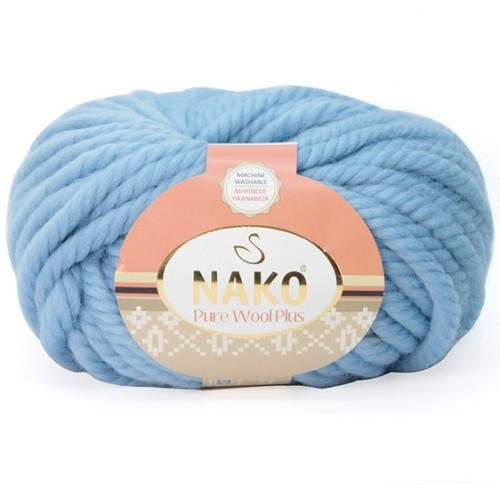 NAKO - PURE WOOL PLUS 1579 PUDRA MAVİ